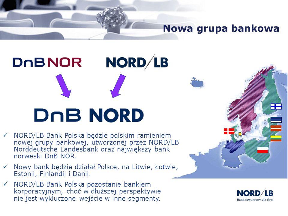 Nowa grupa bankowa NORD/LB Bank Polska będzie polskim ramieniem nowej grupy bankowej, utworzonej przez NORD/LB Norddeutsche Landesbank oraz największy