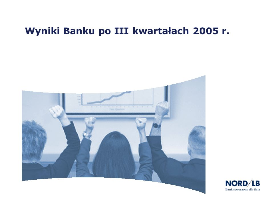 Wyniki Banku po III kwartałach 2005 r.
