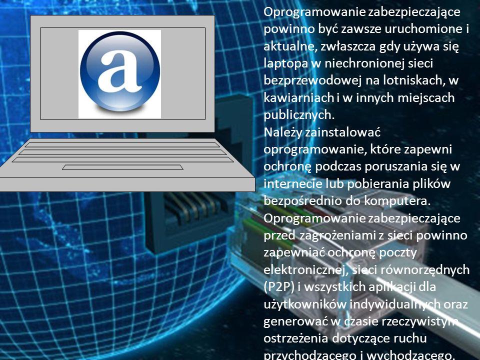Należy używać najnowszej wersji przeglądarki internetowej oraz zainstalować wszystkie dostępne poprawki zabezpieczeń.