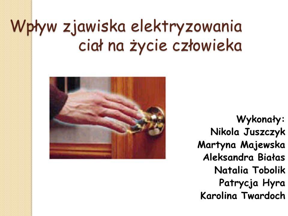 Bibliografia: http://efizyka.info/ http://pl.wikipedia.org/wiki/Elektrostatyka http://www.elektrostatykaiprad.republika.pl/ Encyklopedia PWN To jest fizyka podręcznik do fizyki, część trzecia – Marcin Braun i Weronika Śliwa
