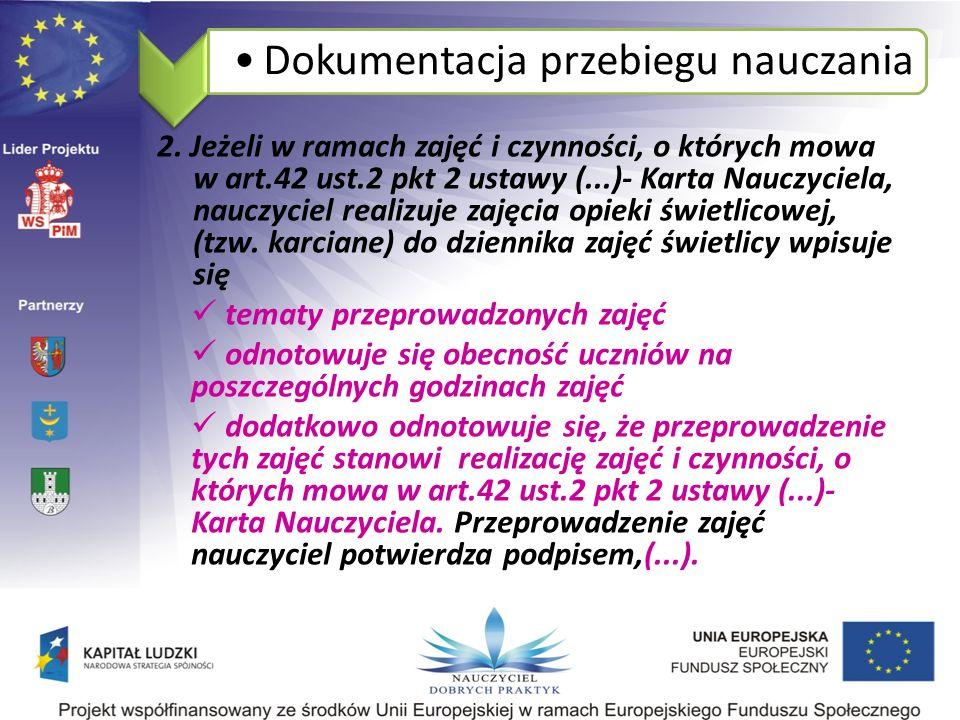Dokumentacja przebiegu nauczania 2.
