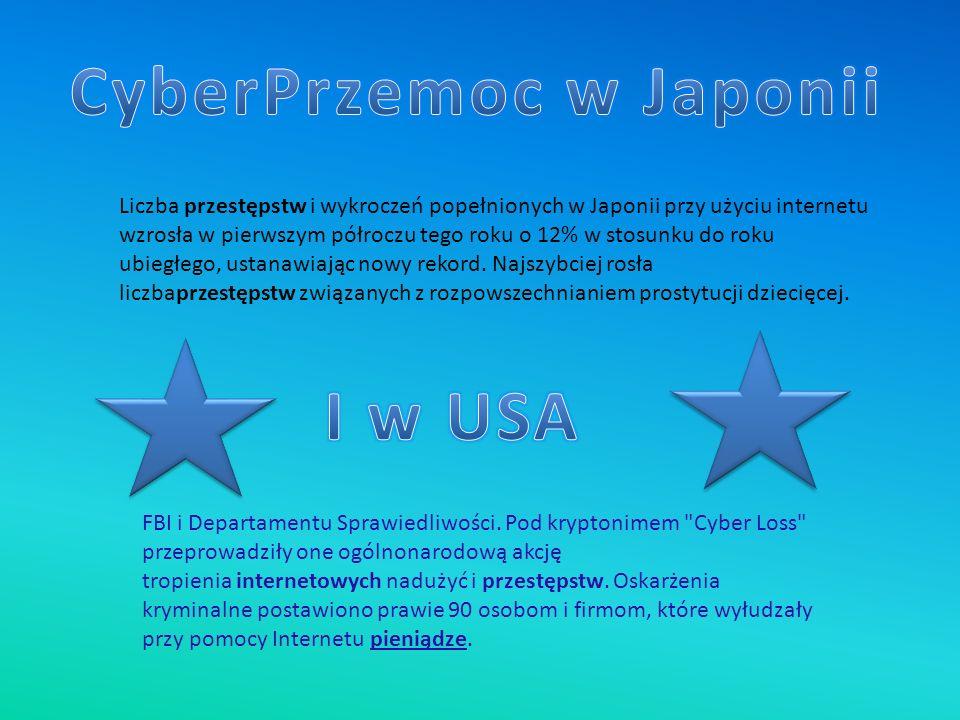 Liczba przestępstw i wykroczeń popełnionych w Japonii przy użyciu internetu wzrosła w pierwszym półroczu tego roku o 12% w stosunku do roku ubiegłego,