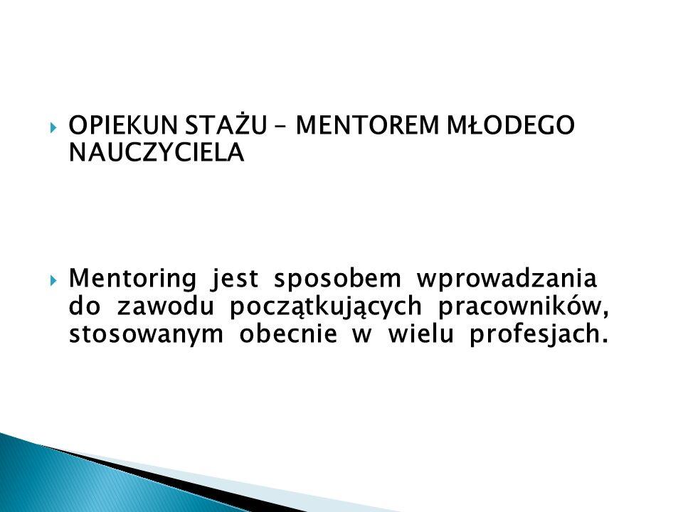 1.Zapoznanie z procedurą awansu zawodowego 2.