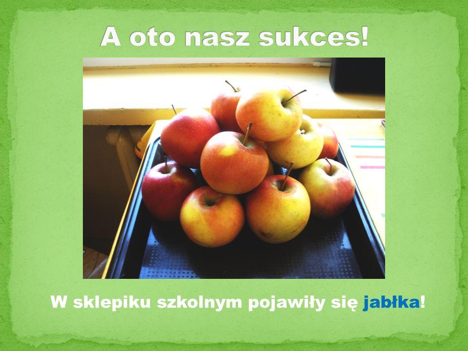 W sklepiku szkolnym pojawiły się jabłka!