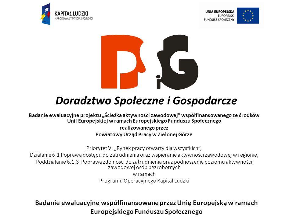 Badanie ewaluacyjne projektu Ścieżka aktywności zawodowej współfinansowanego ze środków Unii Europejskiej w ramach Europejskiego Funduszu Społecznego