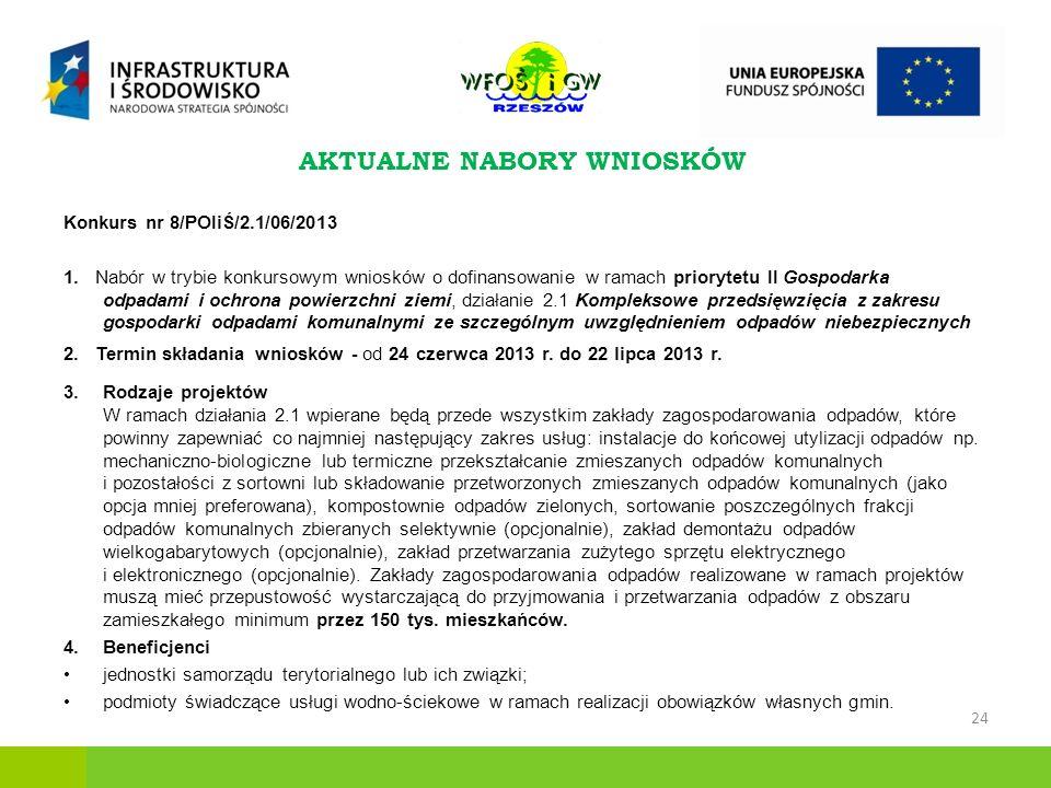 Konkurs nr 8/POIiŚ/2.1/06/2013 1.