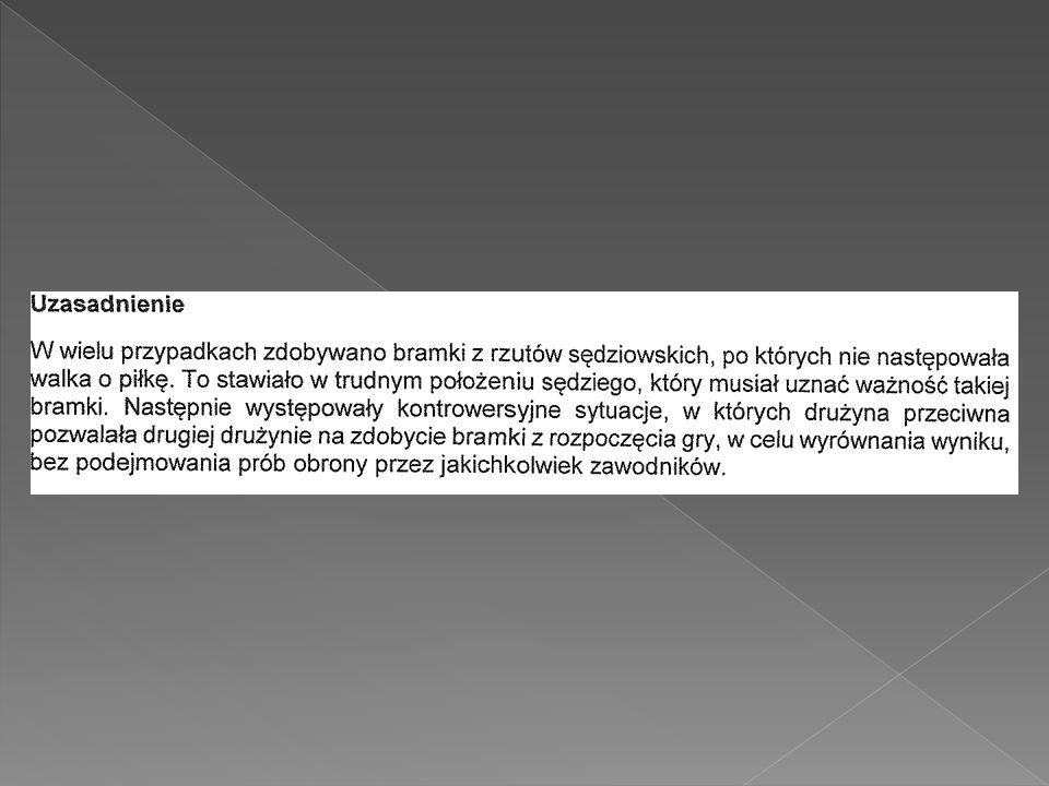 Uchwała nr VI/112 z dnia 27 czerwca 2012 roku Zarządu Polskiego Związku Piłki Nożnej dot.