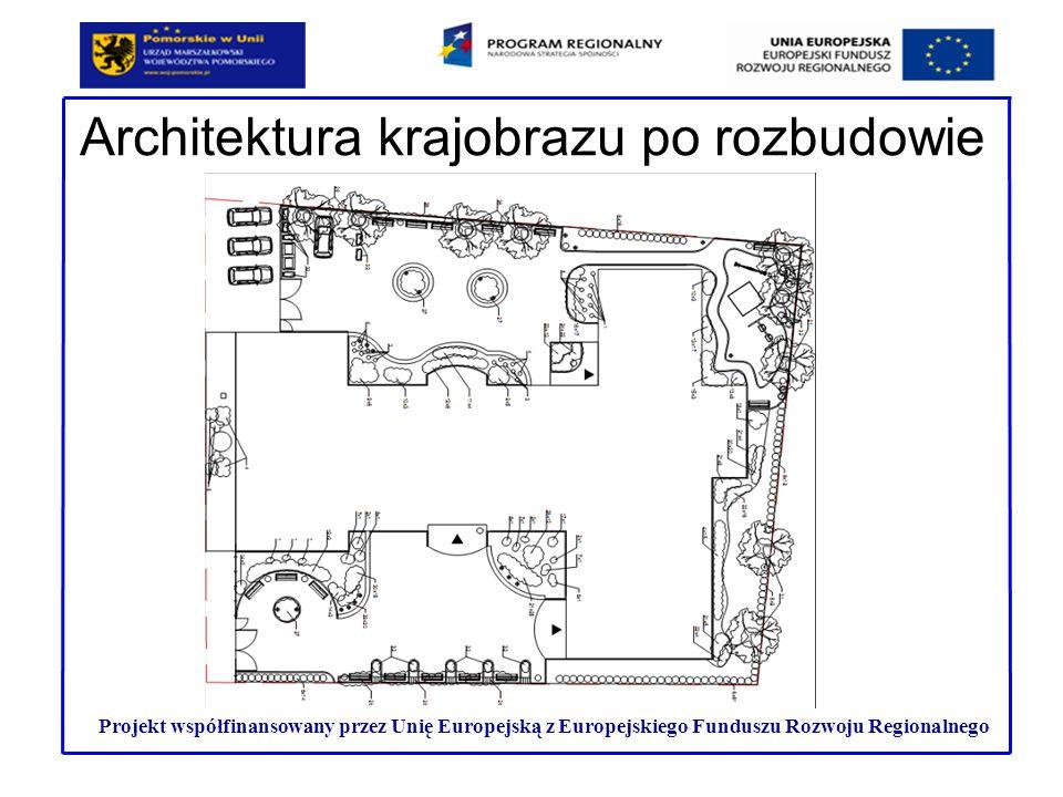 Architektura krajobrazu po rozbudowie Projekt współfinansowany przez Unię Europejską z Europejskiego Funduszu Rozwoju Regionalnego