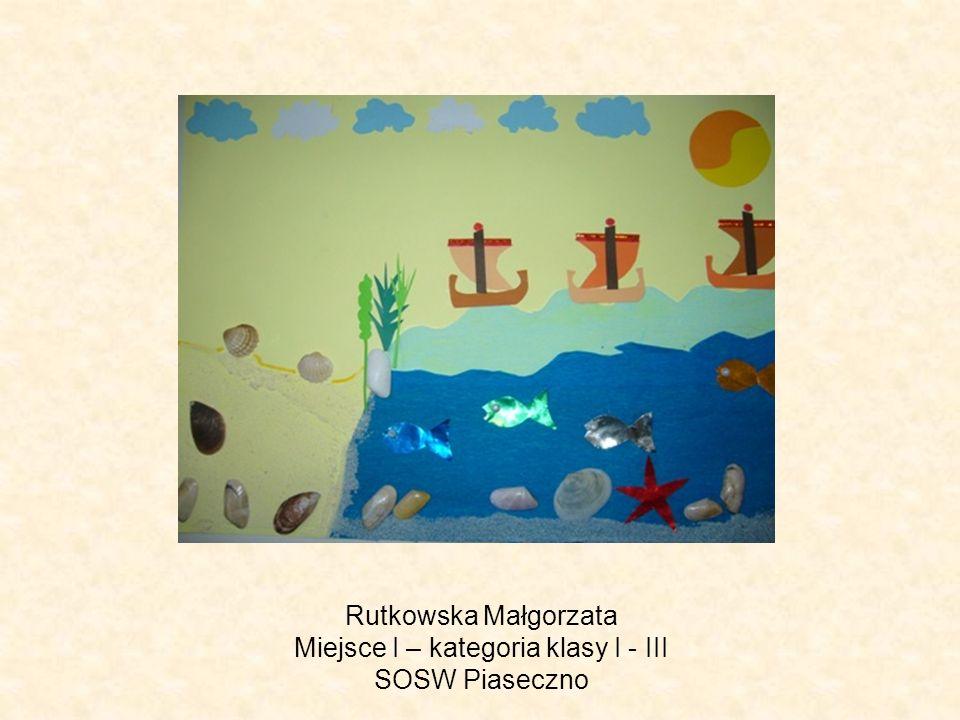 Rutkowska Małgorzata Miejsce I – kategoria klasy I - III SOSW Piaseczno