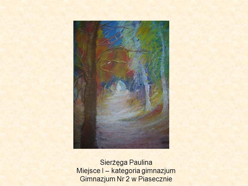 Sierżęga Paulina Miejsce I – kategoria gimnazjum Gimnazjum Nr 2 w Piasecznie