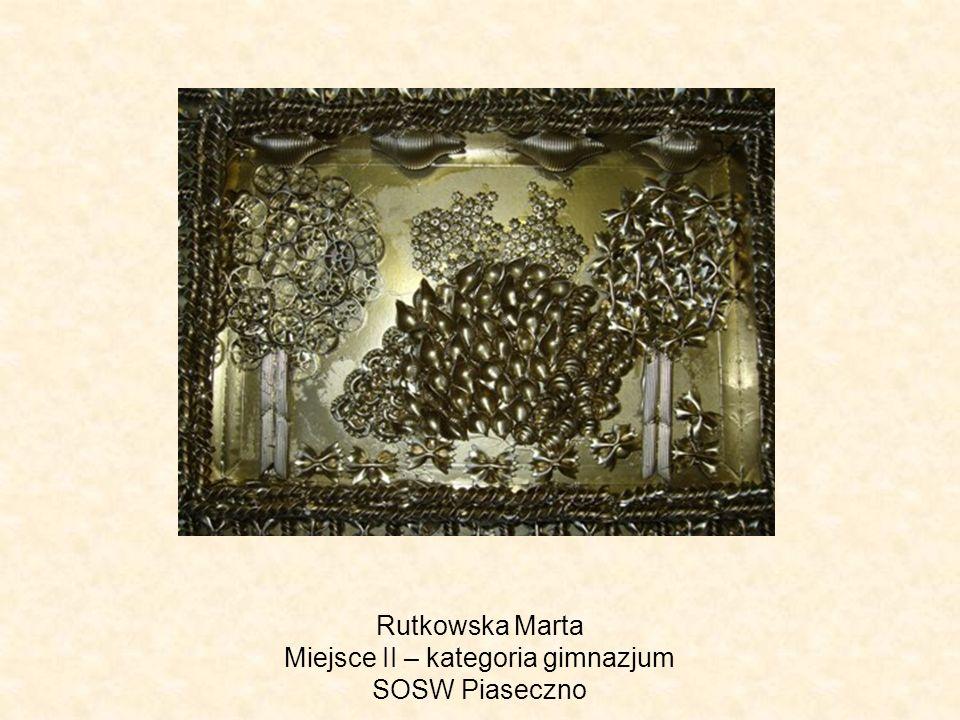 Rutkowska Marta Miejsce II – kategoria gimnazjum SOSW Piaseczno