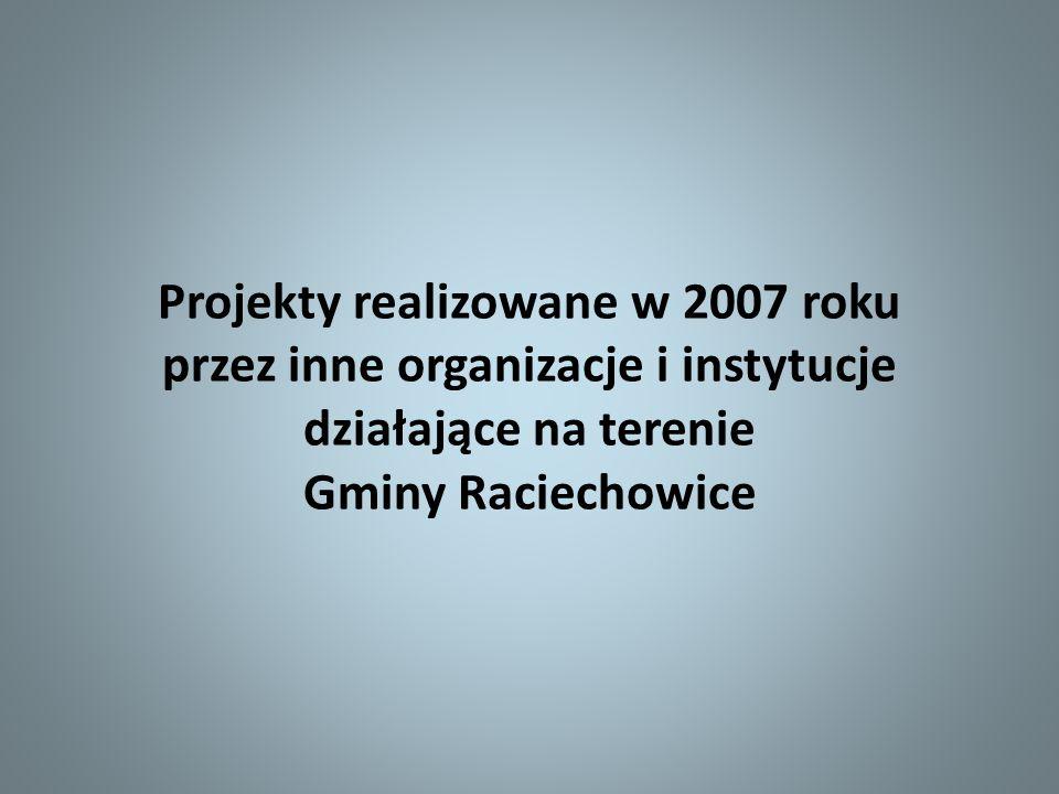 Projekty realizowane w 2007 roku przez inne organizacje i instytucje działające na terenie Gminy Raciechowice