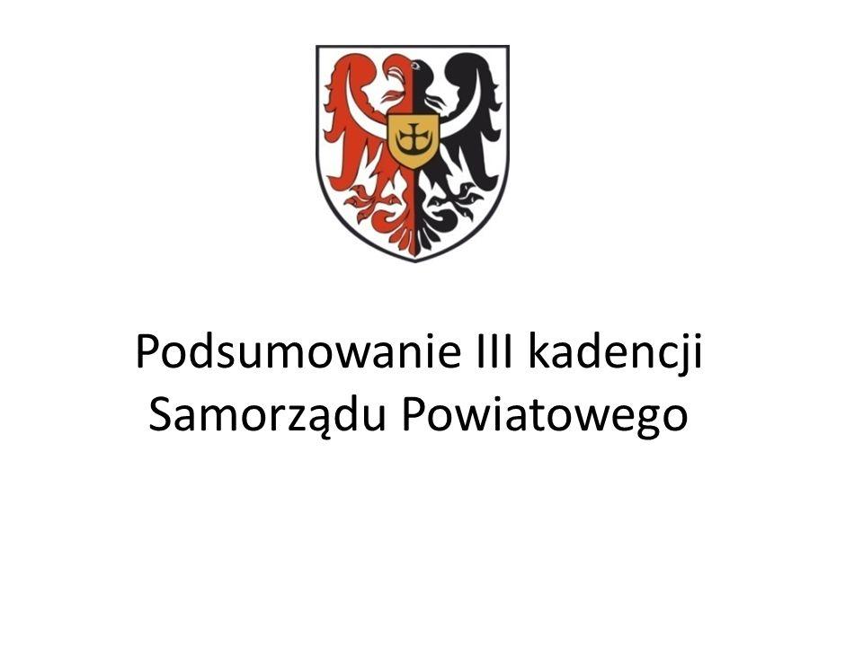 Podsumowanie III kadencji Samorządu Powiatowego