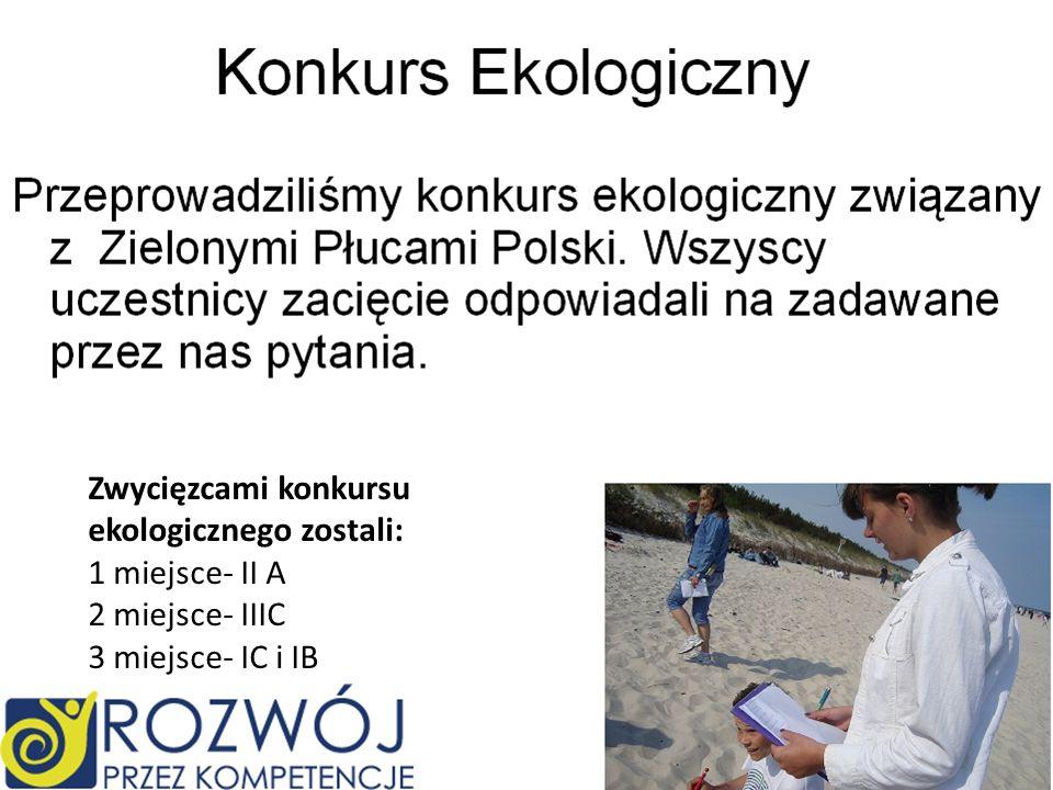 Zielone płuca Polski w naszej wersji Zielone płuca Polski w oryginale Zwycięzcami konkursu ekologicznego zostali: 1 miejsce- II A 2 miejsce- IIIC 3 mi