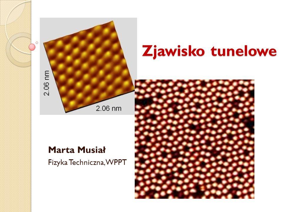 Zjawisko tunelowe Zjawisko tunelowe Marta Musiał Fizyka Techniczna, WPPT