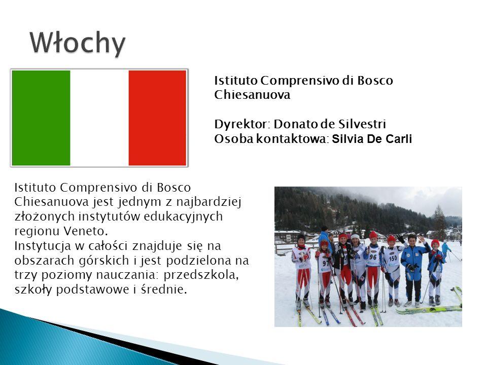 Istituto Comprensivo di Bosco Chiesanuova Dyrektor: Donato de Silvestri Osoba kontaktowa: Silvia De Carli Istituto Comprensivo di Bosco Chiesanuova jest jednym z najbardziej złożonych instytutów edukacyjnych regionu Veneto.