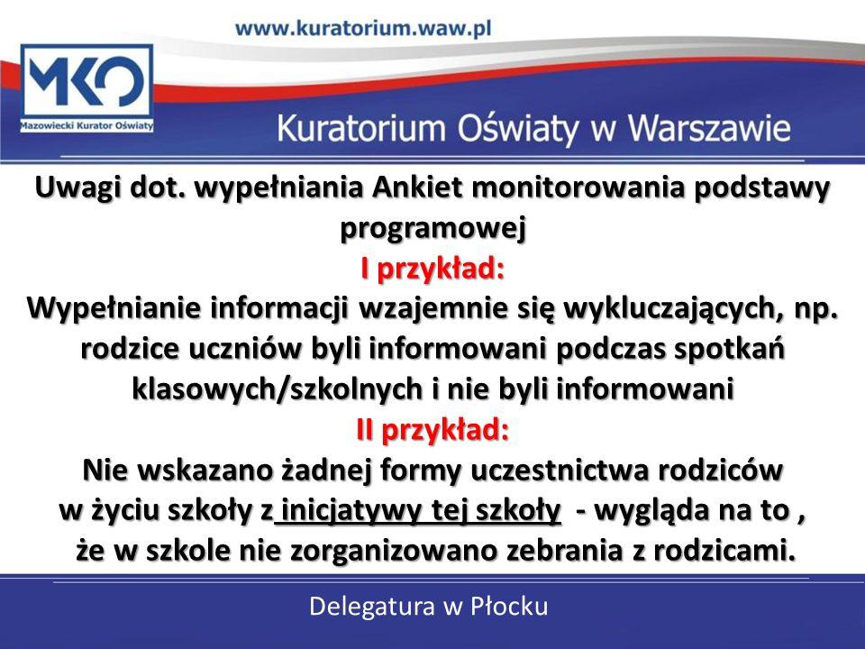 Delegatura w Płocku Uwagi dot.