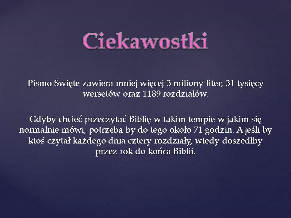 Biblia to księga dla całego świata Napisana przez czterdziestu ludzi Tłumaczona przez setki Drukowana przez tysiące Czytana przez miliony Jest także dla Ciebie!