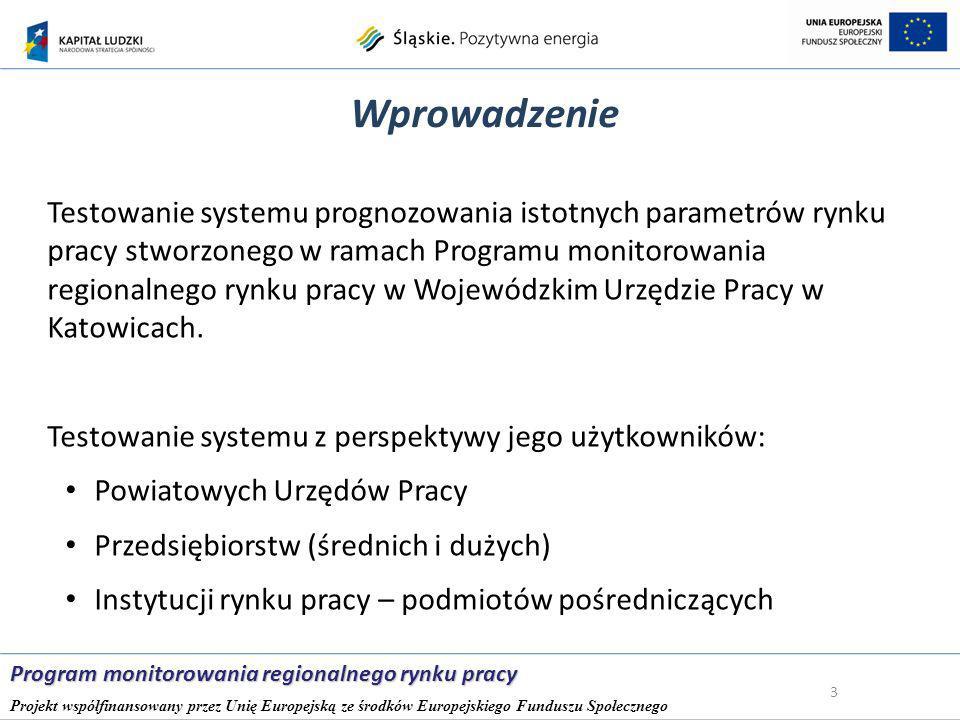 Bezrobotne kobiety w województwie śląskim 14 Program monitorowania regionalnego rynku pracy Projekt współfinansowany przez Unię Europejską ze środków Europejskiego Funduszu Społecznego