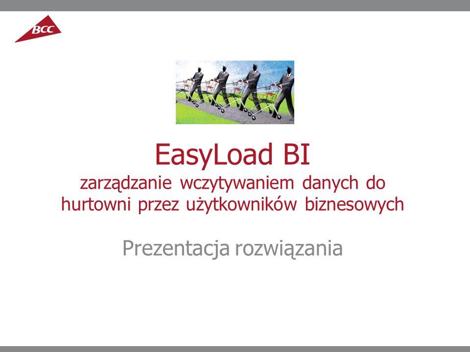 EasyLoad BI zarządzanie wczytywaniem danych do hurtowni przez użytkowników biznesowych Prezentacja rozwiązania