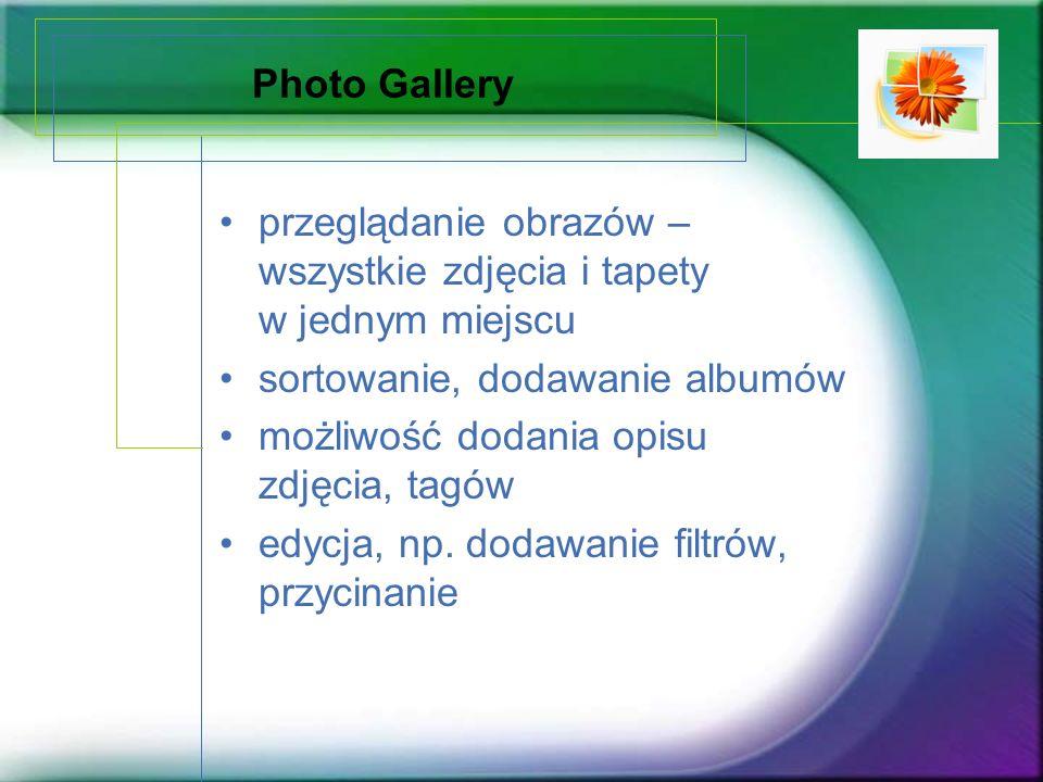 Photo Gallery przeglądanie obrazów – wszystkie zdjęcia i tapety w jednym miejscu sortowanie, dodawanie albumów możliwość dodania opisu zdjęcia, tagów