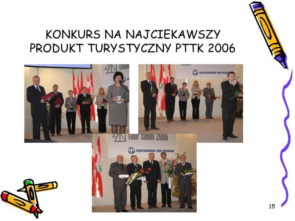 15 KONKURS NA NAJCIEKAWSZY PRODUKT TURYSTYCZNY PTTK 2006