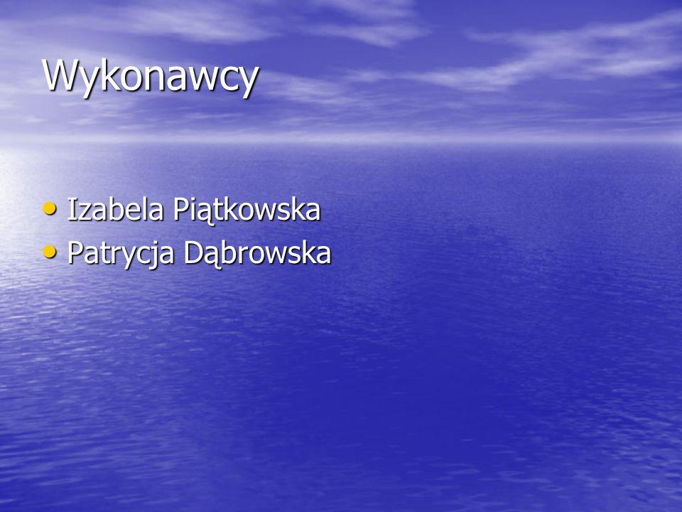 Wykonawcy Izabela Piątkowska Izabela Piątkowska Patrycja Dąbrowska Patrycja Dąbrowska