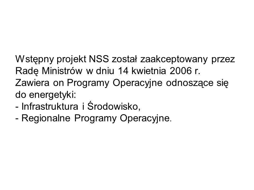 Wstępny projekt NSS został zaakceptowany przez Radę Ministrów w dniu 14 kwietnia 2006 r.