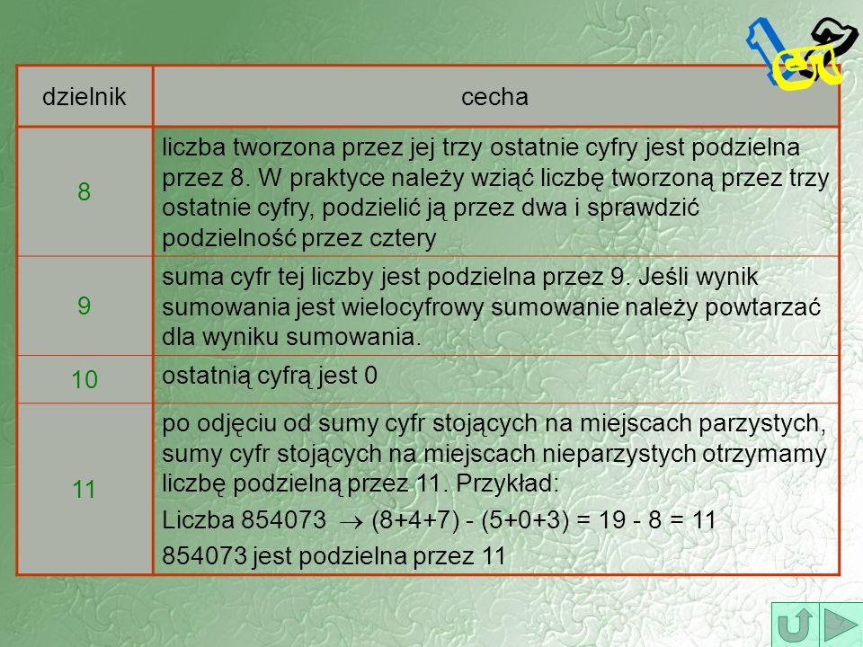 Przykład 3. 247 × 479 Kierunek zapisu liczby Kierunek odczytania wyniku