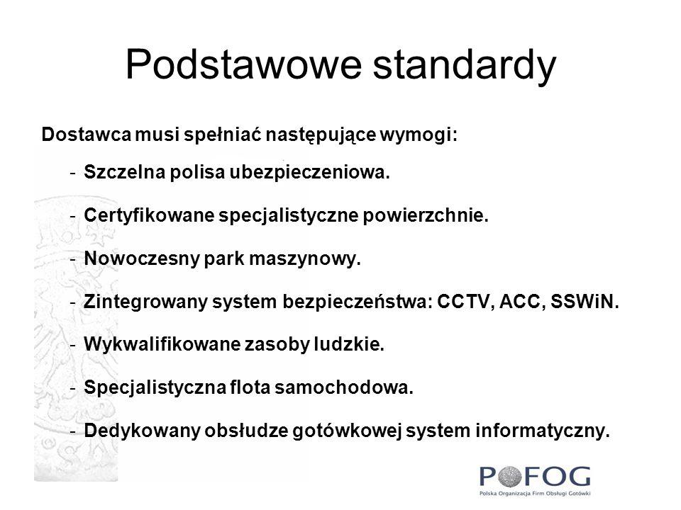Podstawowe standardy Dostawca musi spełniać następujące wymogi: -Szczelna polisa ubezpieczeniowa. -Certyfikowane specjalistyczne powierzchnie. -Nowocz