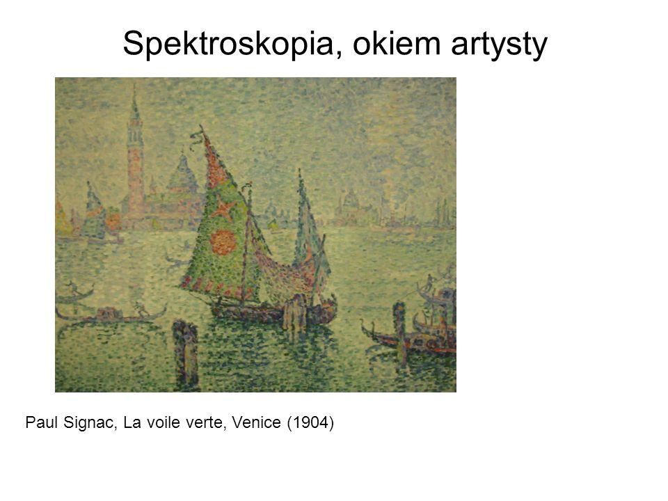 Spektroskopia, okiem artysty Paul Signac, La voile verte, Venice (1904)