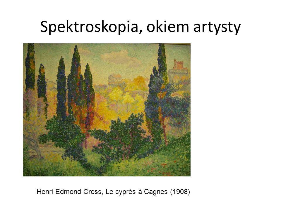 Spektroskopia, okiem artysty Henri Edmond Cross, Le cyprès à Cagnes (1908)