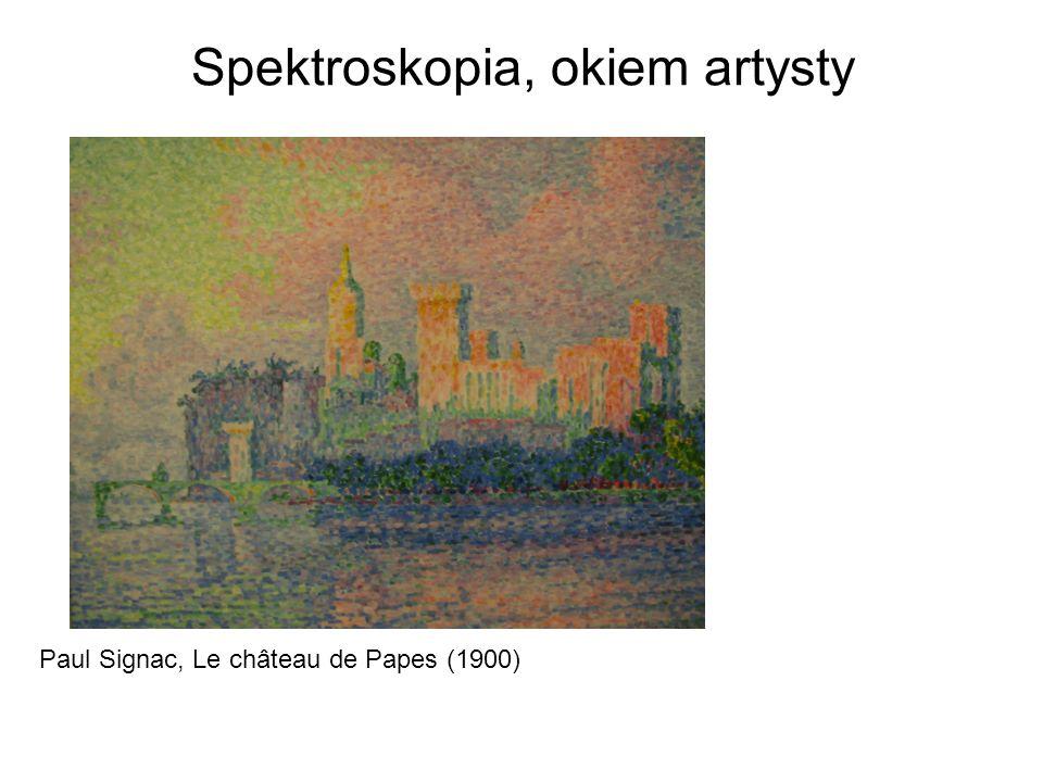 Spektroskopia, okiem artysty Paul Signac, Le château de Papes (1900)