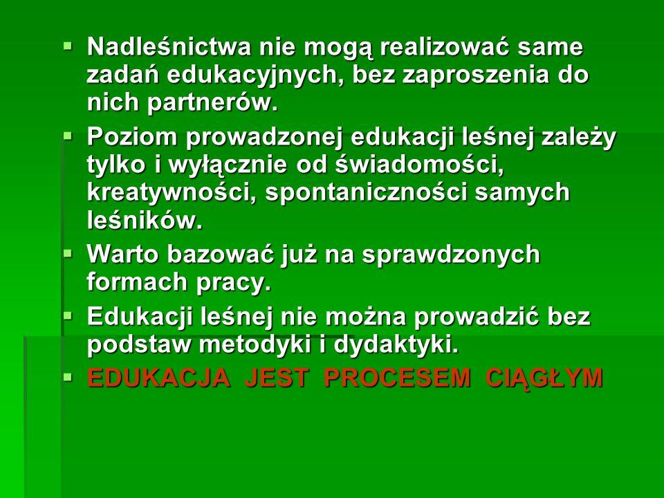 współpraca leśników ze szkołami, metodykami, administracją samorządową,itp.