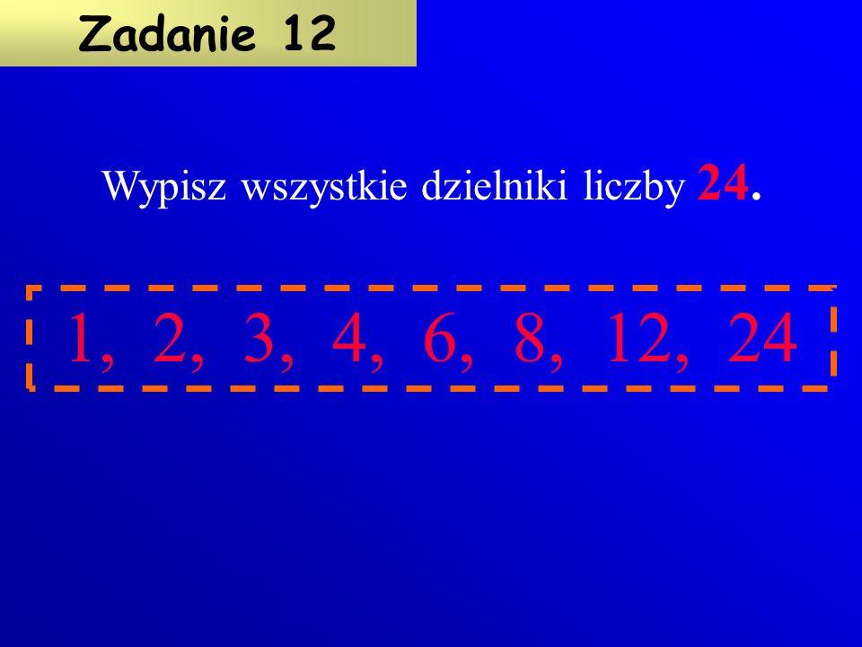 Otocz czerwonym okręgiem liczby, które są wielokrotnościami 6 (sześciu).