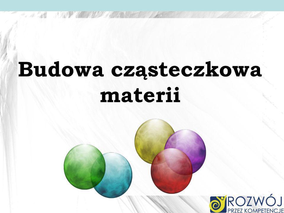 Cząsteczkowa budowa materii Jak duże są cząsteczki.