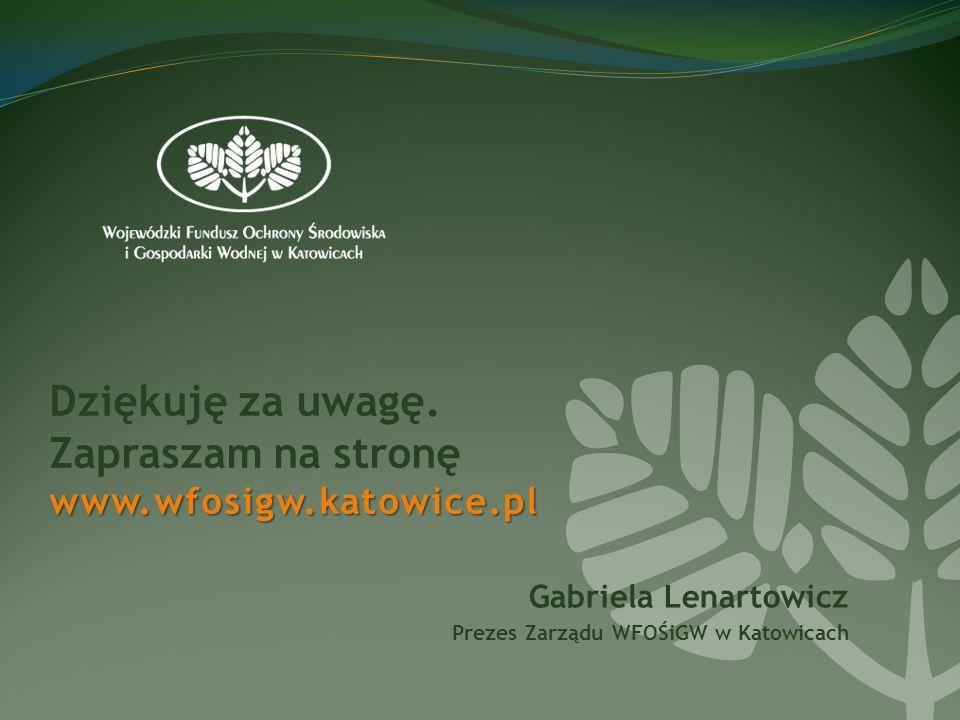 www.wfosigw.katowice.pl Dziękuję za uwagę.