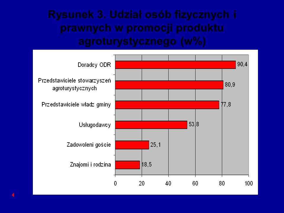 Rysunek 3. Udział osób fizycznych i prawnych w promocji produktu agroturystycznego (w%)