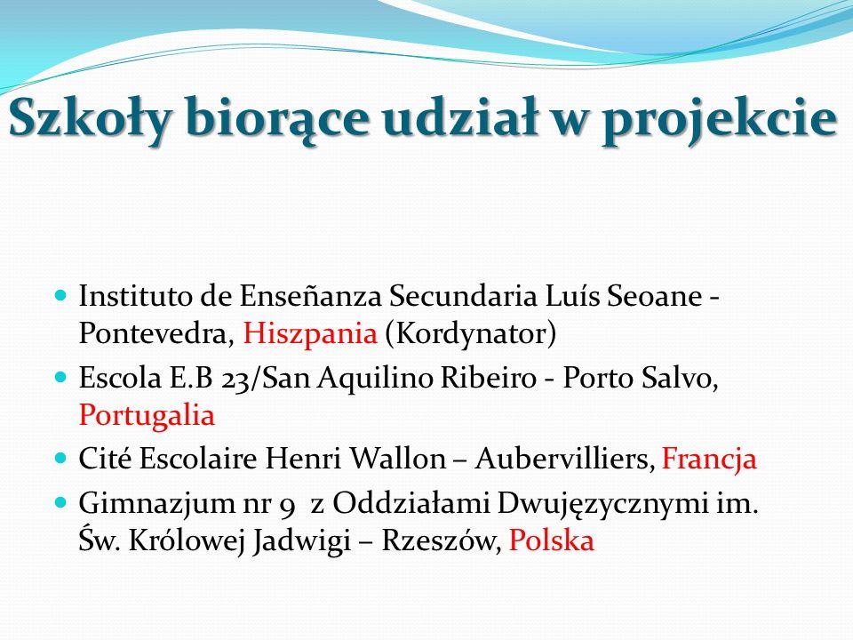 Szkoły biorące udział w projekcie Instituto de Enseñanza Secundaria Luís Seoane - Pontevedra, Hiszpania (Kordynator) Escola E.B 23/San Aquilino Ribeir