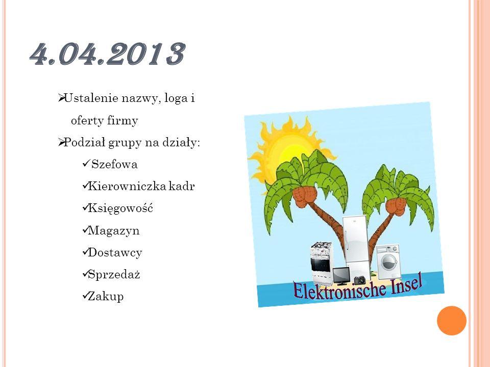 5.04.2013 Tworzenie katalogu Omówienie programu finansowo-księgowego Lexware