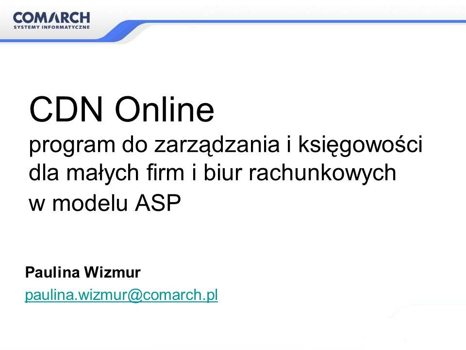 CDN Online – jak to naprawdę działa? Odpowiedni adres strony: www.comarch.pl/cdnonline