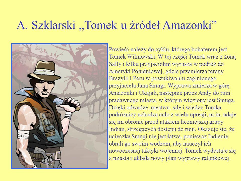 Powieść należy do cyklu, którego bohaterem jest Tomek Wilmowski.