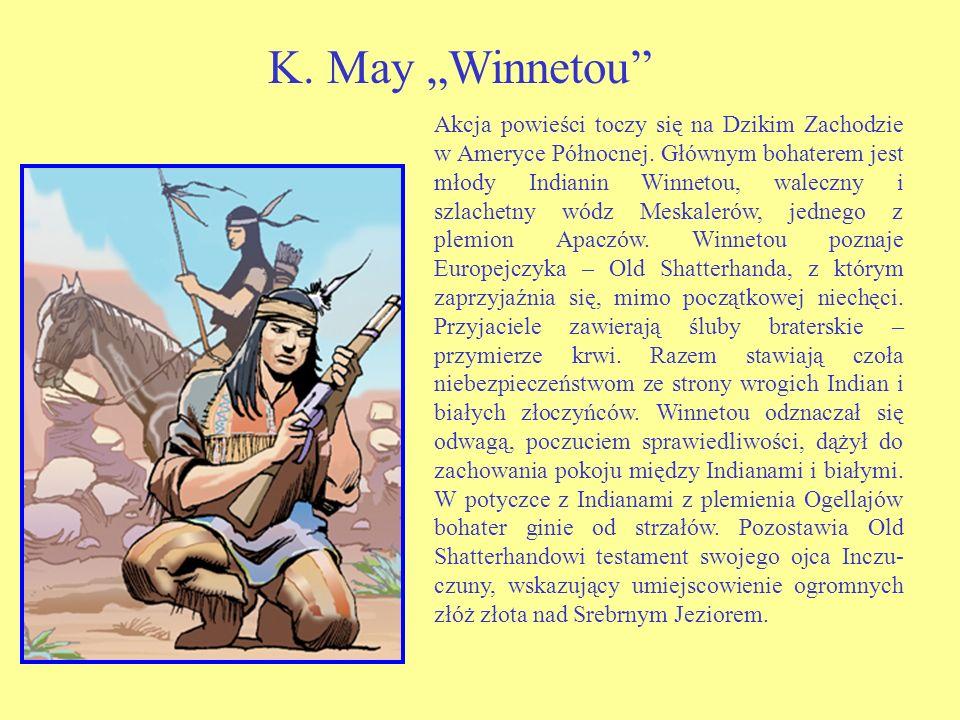 Akcja powieści toczy się na Dzikim Zachodzie w Ameryce Północnej.