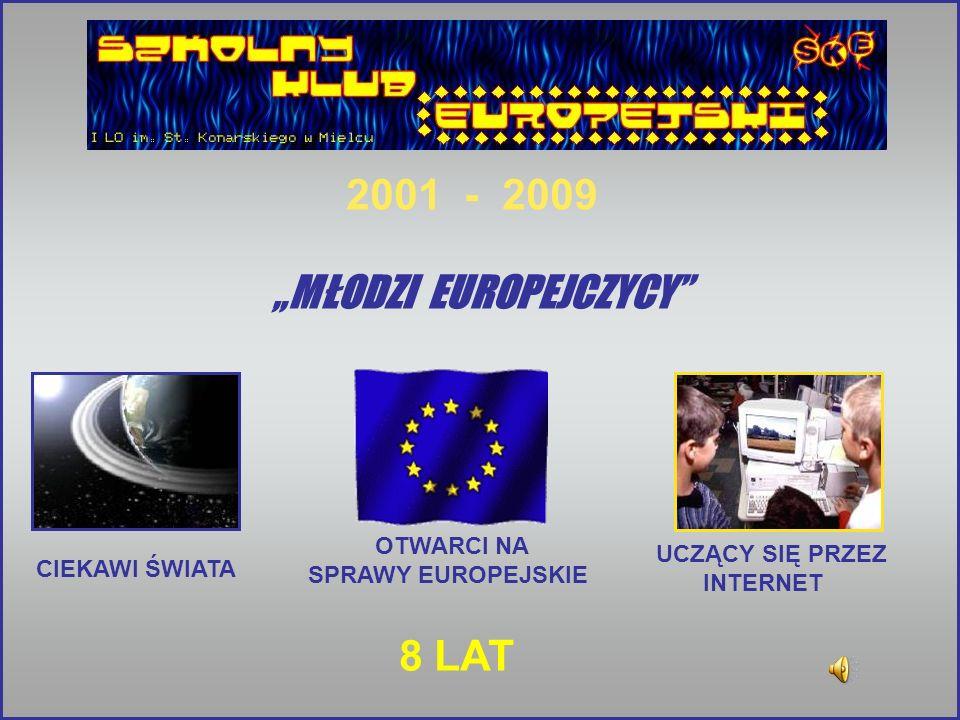 MŁODZI EUROPEJCZYCY CIEKAWI ŚWIATA UCZĄCY SIĘ PRZEZ INTERNET 2001 - 2009 8 LAT OTWARCI NA SPRAWY EUROPEJSKIE
