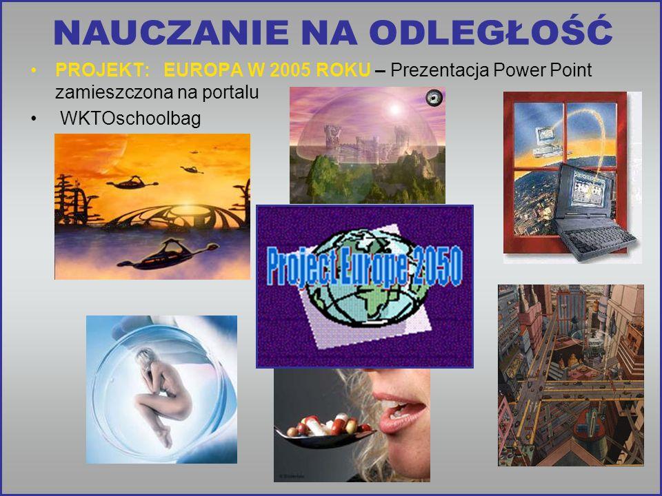 PROJEKT: EUROPA W 2005 ROKU – Prezentacja Power Point zamieszczona na portalu WKTOschoolbag