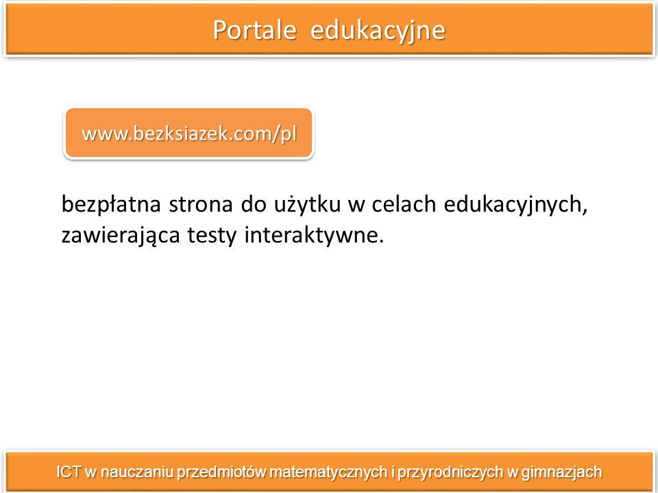 bezpłatna strona do użytku w celach edukacyjnych, zawierająca testy interaktywne.