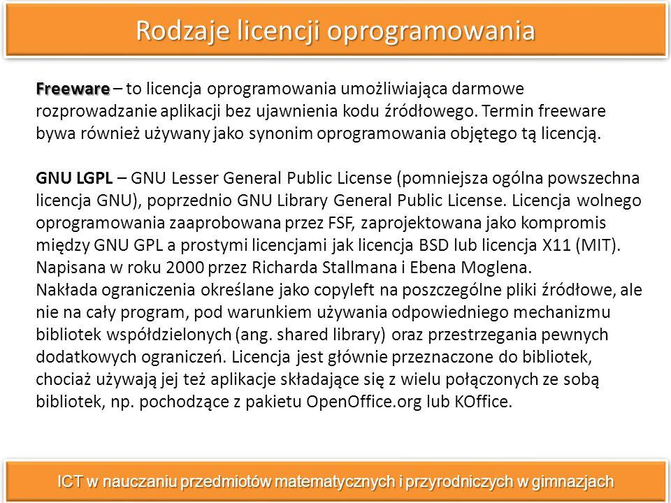 Freeware Freeware – to licencja oprogramowania umożliwiająca darmowe rozprowadzanie aplikacji bez ujawnienia kodu źródłowego.