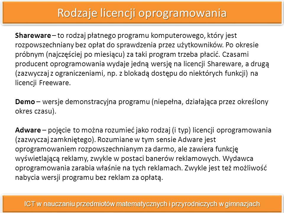 Shareware – to rodzaj płatnego programu komputerowego, który jest rozpowszechniany bez opłat do sprawdzenia przez użytkowników.