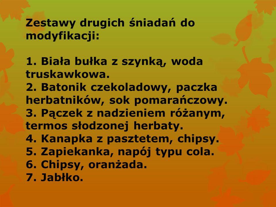 Zestaw nr 2 zmodyfikowany przez Justynę i Martynę. Zdobywca odznaki Super Kucharka.