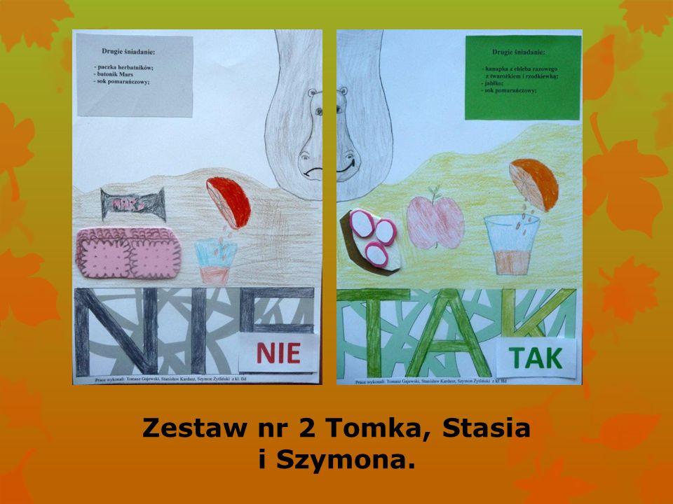 Zestaw nr 2 Tomka, Stasia i Szymona.